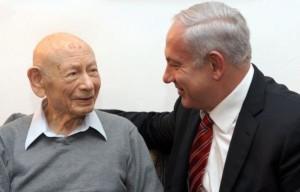 Ben-Zion and Benjamin Netanyahu (photo: GPO)
