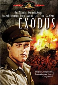 Paul Newman on Exodus DVD cover