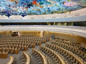 The Human Rights and Alliance of Civilizations Room, used by the United Nations Human Rights Council. (by: BriYYZ)