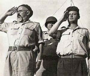 IDF Generals Yitzhak Sadeh and Yigal Alon