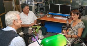 David Essing, Avi Yaffe and Dr. Bianca Rosenberg-Hagen at IsraCast Studios (©IsraCast)