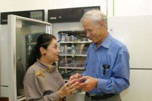 Professors Amos Panet and Zichria Zakay-Rones at the Lab