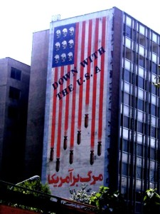 Anti-American mural in the Iranian capital Tehran. (photo credit: Ali Abbas CC BY-SA 2.0 via Wikimedia Commons)