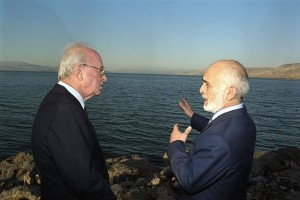 PM Yitzhak Rabin and King Hussein of Jordan (photo credit: Flickr - Government Press Office)