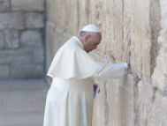 Pope Francis at the Western Wall