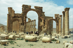 Ruins of Palmyra in the ancient city of Tadmor