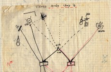 Original diagram of the recording of Jo Amar, 1967