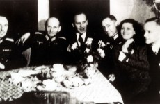 Oskar Schindler with German SS Officers