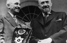 Harry S. Truman and Chaim Weizmann, May 25, 1948