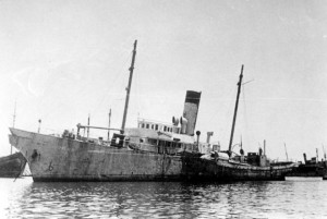 """Hachayal Haivri"" - Departed 1946 Jul 14, arrived 1946 Jul 31."