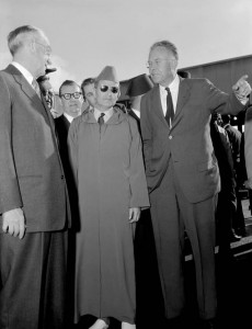 Sultan Mohammed V of Morocco visiting Lawrence Livermore Lab, United States, in 1957