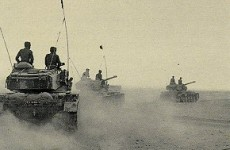 IDF tanks in Sinai