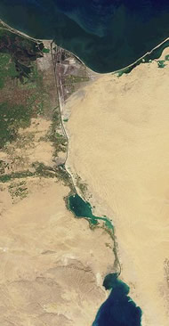 The Suez Canal (from NASA)