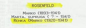 document #4 - death of Renka Rosenfeld