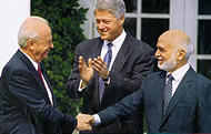 Yitzhak Rabin and King Hussein