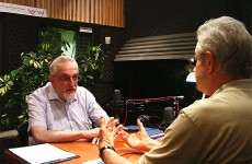 David Essing interviewing Dr. Manfred Gerstenfeld (Photo: Tomer Yaffe)