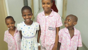 Tanzanian children are happy to be getting a new lease on life thanks to the Israeli medical team. (Photo courtesy of SACH)