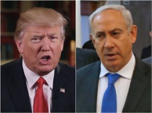 US President Trump, Israeli PM Netanyahu