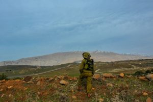 IDF soldier on Israel's Northern border (Matan Portnoy, IDF Spokesperson Unit)