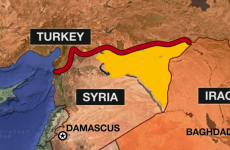 Map showing Turkey, Iraq, and Syria